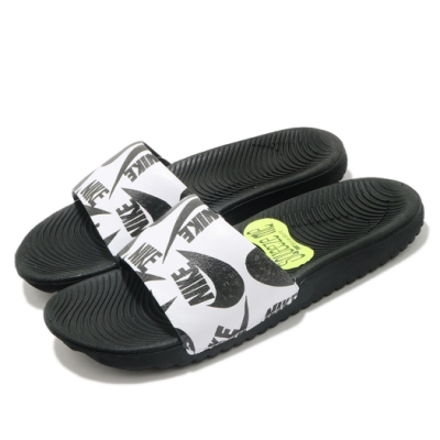 Nike 拖鞋 Kawa Slide SE JDI 女鞋 基本款 輕便 夏日 套腳 中大童 黑 白 CT6619100
