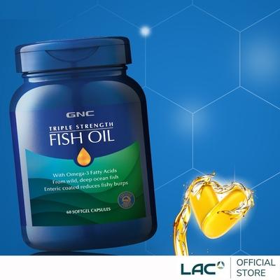【LAC利維喜】GNC健安喜 三效魚油膠囊60顆(一顆抵3顆/3倍omega-3/循環流暢)