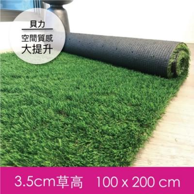 【貝力地板】造景人工草皮-100x200cm (0.6坪)