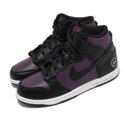 Nike 休閒鞋 Dunk Hi PS 聯名款 運動 童鞋 藤原浩 閃電 城市系列 北京 中童 穿搭 紫 黑 DJ4285-600