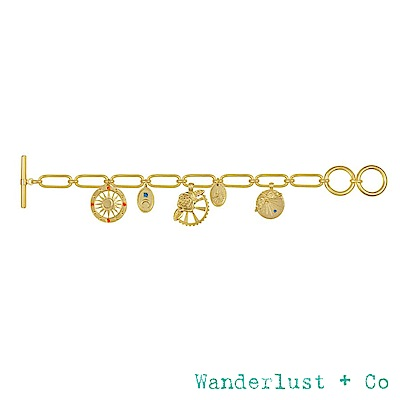Wanderlust+Co REVERIE系列 魅力宇宙鍍18K金手鍊