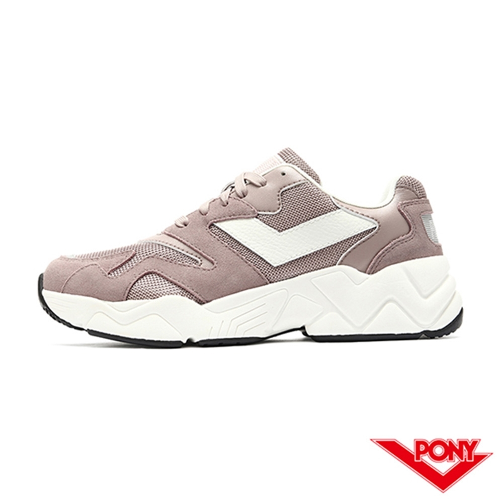 【PONY】MODERN 2系列 復古單色 老爹鞋 電光鞋 女鞋-粉紫