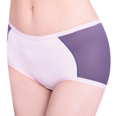 思薇爾 單品褲系列M-XL素面中低腰平口內褲(靄藍色)