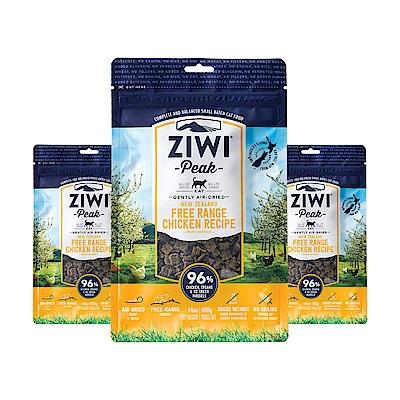 ZiwiPeak巔峰 96%鮮肉貓糧*雞肉*400G 3件組