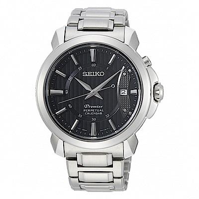 SEIKO 精工Premier萬年曆紳士腕錶-黑 SNQ159J1/6A32-00Z0
