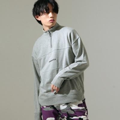 ZIP日本男裝 KANGOL聯名款半拉鍊運動衫 (11色)