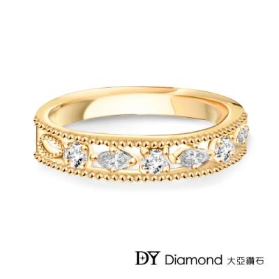 DY Diamond 大亞鑽石 L.Y.A輕珠寶 18黃K金 星空 鑽石線戒