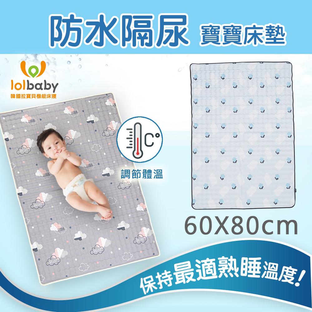 【韓國Lolbaby】Hi Jell-O涼感蒟蒻床墊_防水格尿款_嬰兒兒童床墊(水湖塗鴉)