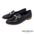 Tino Bellini義大利進口經典馬銜扣樂福鞋_黑