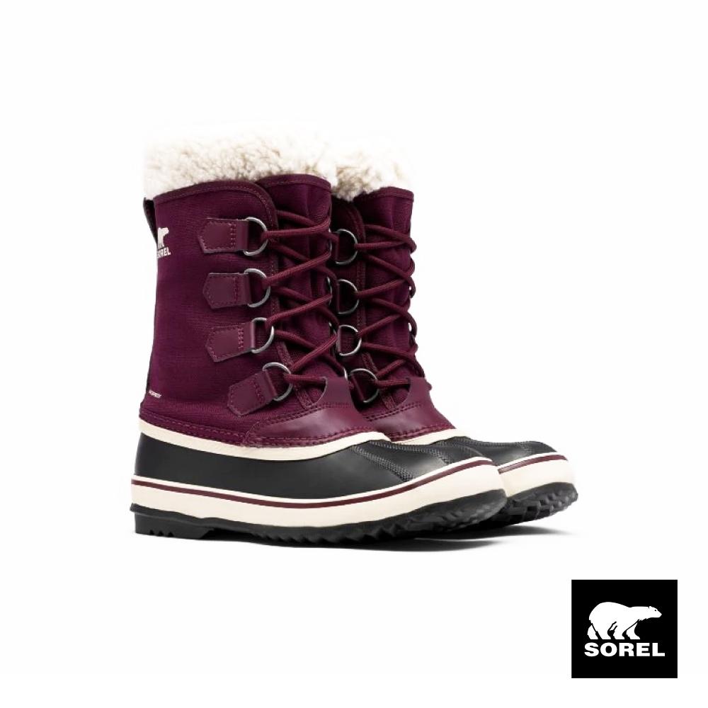 SOREL-節慶系列女生帆布運動靴-紫色