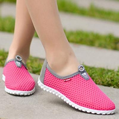 韓國KW美鞋館 (現貨+預購)男女款夏日必備全素運動鞋-玫紅