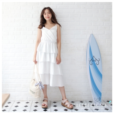 Secret Closet-細帶漸層蛋連身洋裝