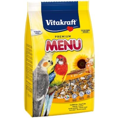 德國Vitakraft Vita-中型長尾鸚鵡主食(蜂蜜+維他命) (21003)1kg 兩包組