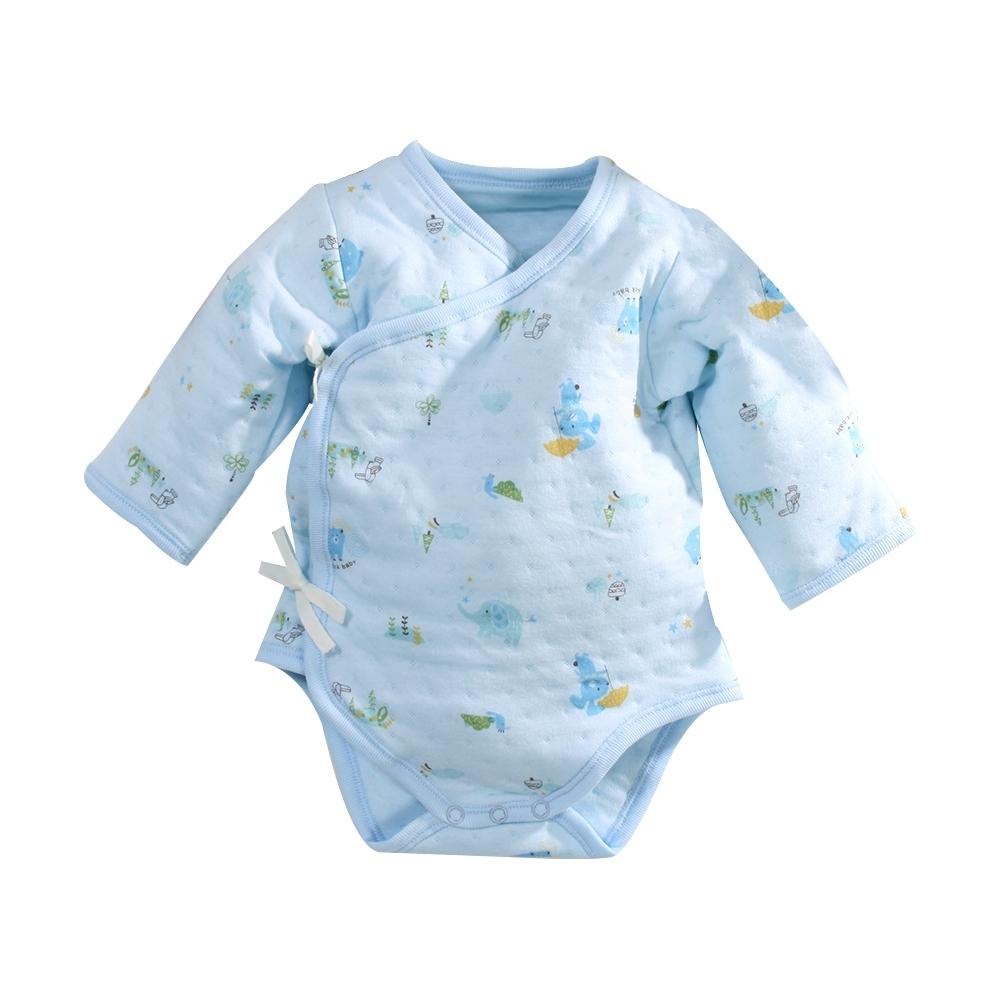 台灣製三層棉厚款純棉護手連身衣 b0210 魔法Baby