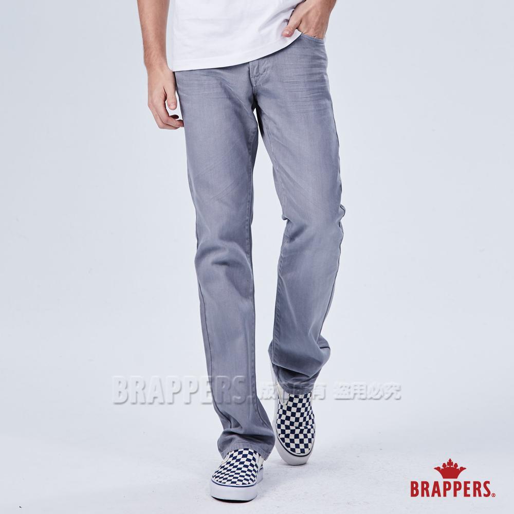 BRAPPERS 男款 中腰窄版直筒褲-灰