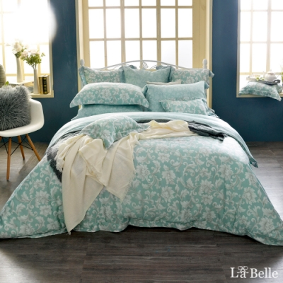 義大利La Belle 微光絕色 加大天絲四件式防蹣抗菌吸濕排汗兩用被床包組