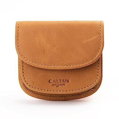 CALTAN 掀蓋開口風琴式零錢包 多隔層小包(1817ht)
