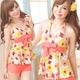 泳衣 俏麗甜心 二件式花朵印花泳裝(橘F)  AngelHoney天使霓裳 product thumbnail 1