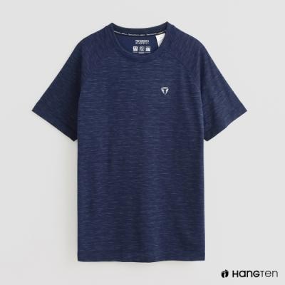 Hang Ten - ThermoContro-簡約U領短袖T恤 - 藍