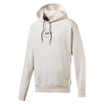 PUMA-男性流行系列XTG Trail長厚連帽T恤-牙白-歐規