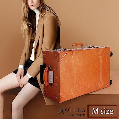 MOIERG-愛上復古潮旅行plain trunk (M-19吋) Camel