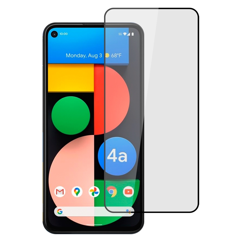 【Ayss】Google Pixel 4a 5G/6.2吋/2020/平面滿版全膠/玻璃鋼化保護貼膜/四邊弧邊-黑