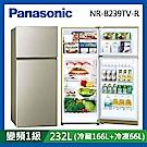 [館長推薦] Panasonic 國際牌 232公升 1級變頻雙門電冰箱 NR-B239TV-R