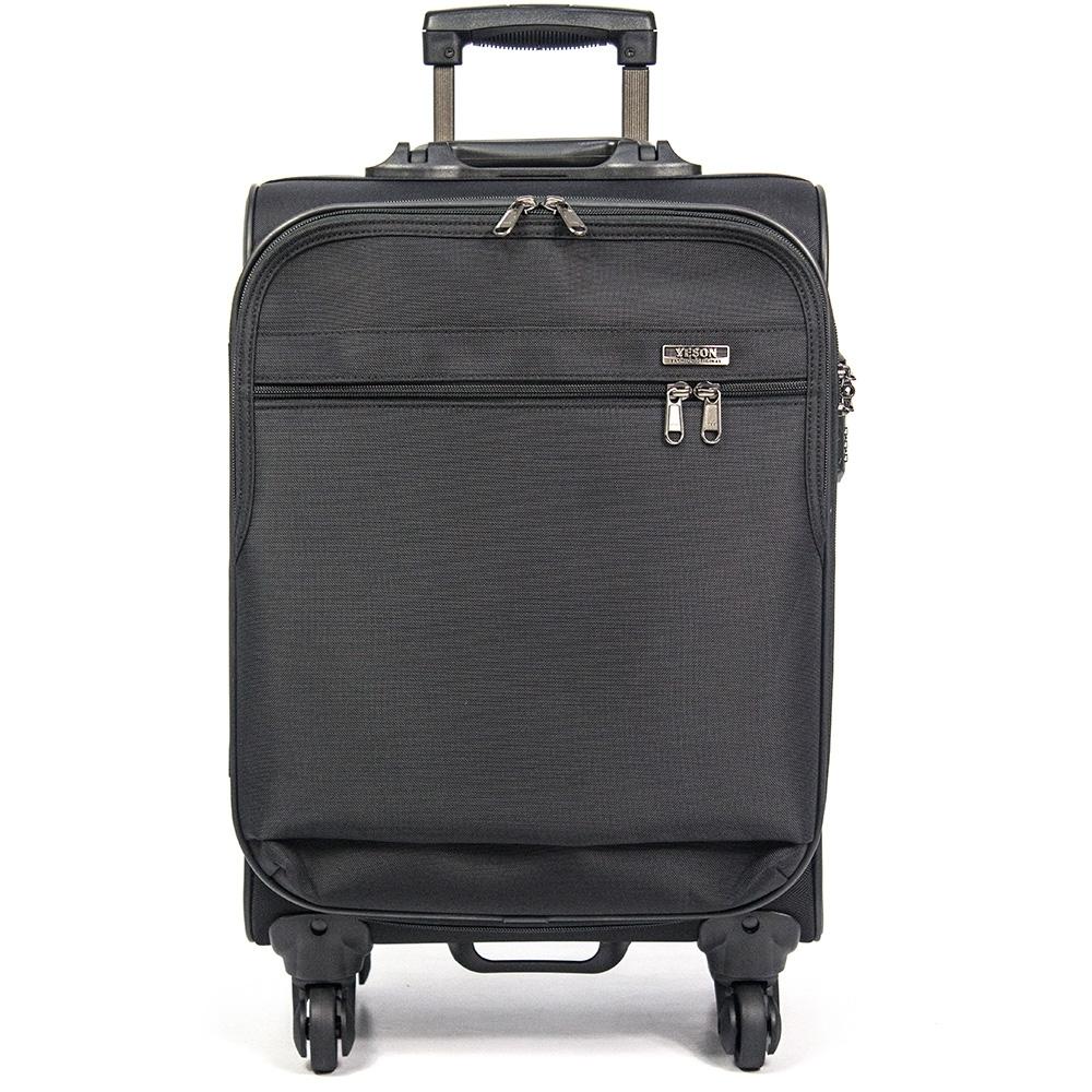 YESON - 18吋時尚造型登機箱行李箱-MG-9718-黑