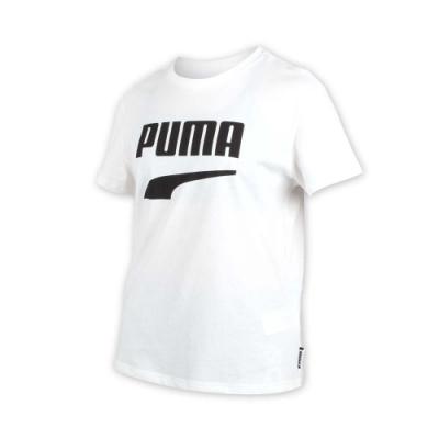 PUMA 女流行系列短袖T恤-慢跑 路跑 白黑