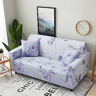 媽媽咪呀 輕舞飛揚創意舒適彈性沙發套/三人座_贈一個抱枕套