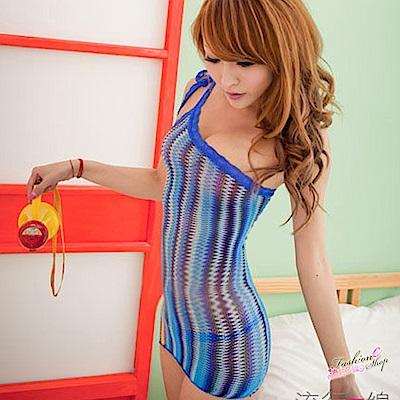 繽紛花色條紋情趣內衣 修飾貼身性感內搭襯裙洋裝 流行e線