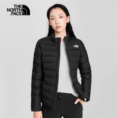The North Face北面女款黑色防潑水羽絨外套|4NAGJK3