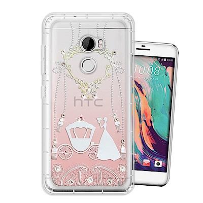 HTC One X10 奧地利水晶彩繪空壓手機殼(精靈捧花)