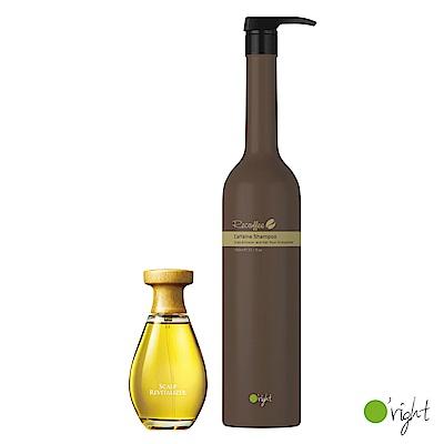 歐萊德 咖啡因熱賣組(洗髮精1000ml+養髮液100ml)
