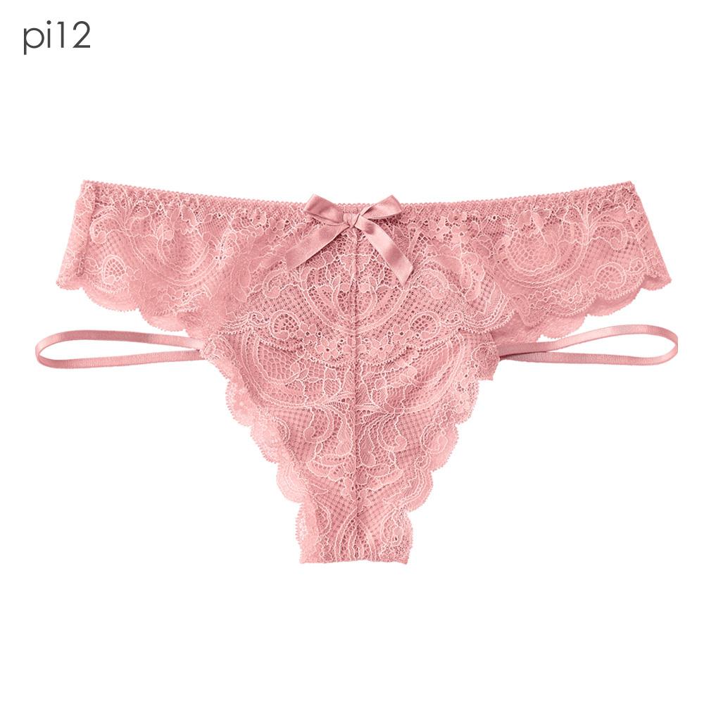 aimerfeel  單品內褲 Side String 丁字褲 單色 性感蕾絲  單品內褲 -958723-PI12