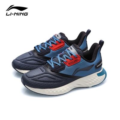 LI-NING 李寧 雲五代SHIELD減震系列慢跑鞋 墨水灰/深水藍/石竹橙 男款(ARHQ243-4)