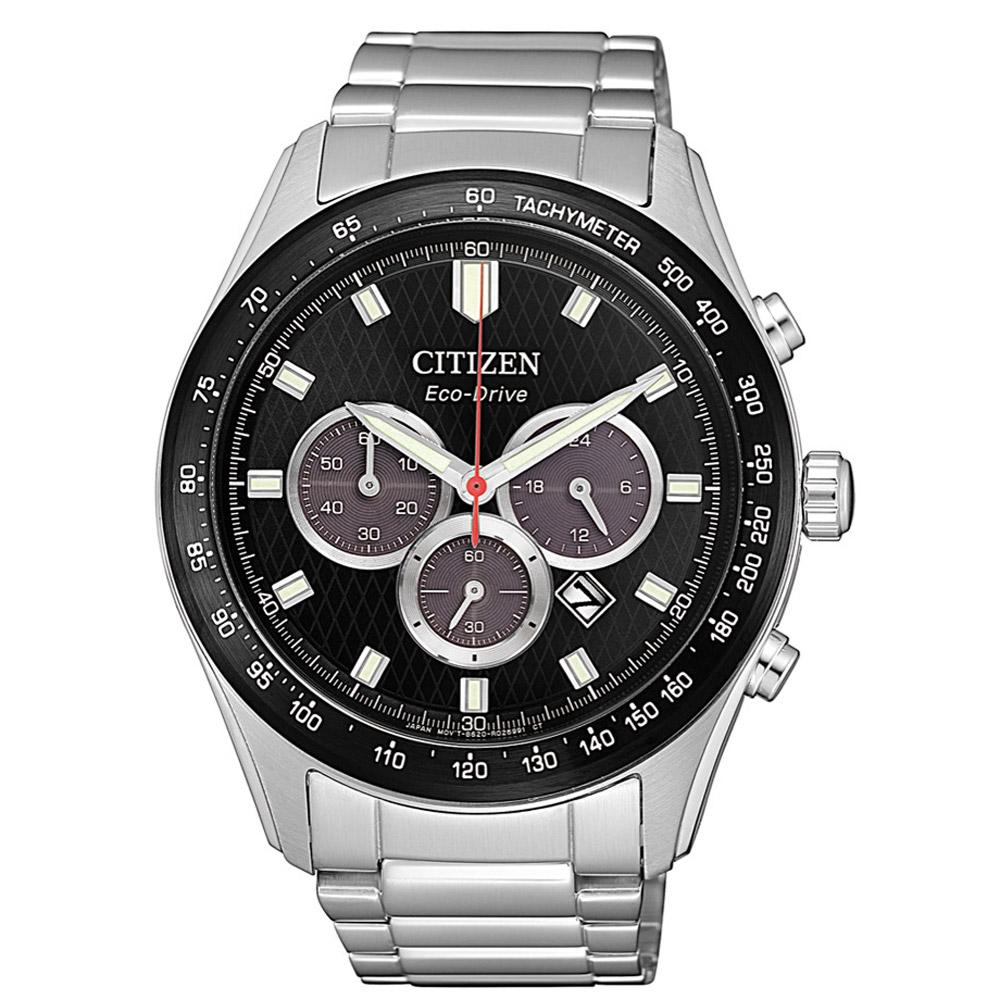 CITIZEN星辰 光動能極速強悍計時男錶(CA4454-89E)-黑/43mm