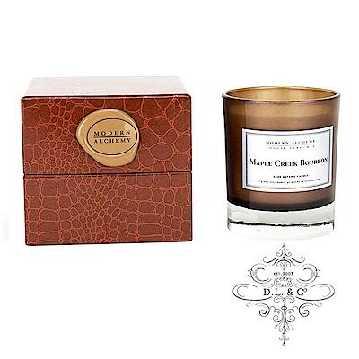美國 D.L. & CO. 精緻煙草皮革系列 楓葉威士忌 香氛禮盒 210g