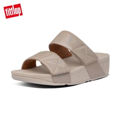 FitFlop MINA IRIDESCENT SLIDES 寬帶涼鞋-女(復古金)