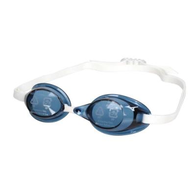 MIZUNO SWIM 泳鏡-防霧 抗UV 游泳 日製 蛙鏡 訓練 美津濃 85YA-75000-12 藍黑白