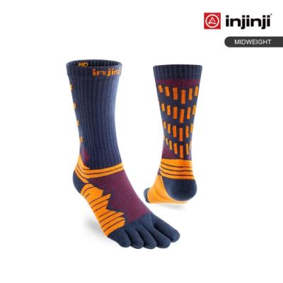 【INJINJI】Ultra Run 終極系列五趾中筒襪[赤紅]