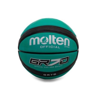 MOLTEN 12片橡膠深溝籃球 Molten 綠黑
