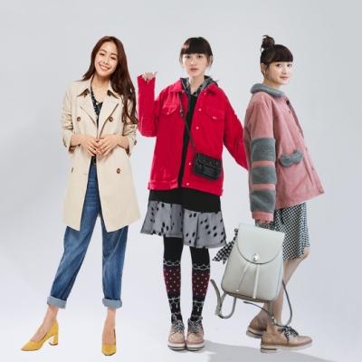 【Dailo】暖冬外套(均一價/A風衣款/B條絨款/C咪喵款/D格紋款)雅虎獨家