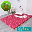 窩床的日子-外宿款 大青竹蓆床墊x高密度聚酯纖維棉 透氣棉床墊(雙人)