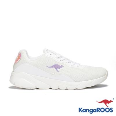 KangaROOS 美國袋鼠鞋 女 RUN SWIFT 科技幻彩跑鞋(白)