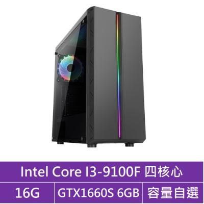 技嘉H310平台[火雲烈士]i3四核GTX1660S獨顯電腦