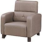 文創集 波登現代耐磨亞麻布紋皮革單人座沙發椅-78x79x95cm免組