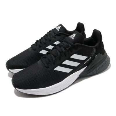 adidas 慢跑鞋 Response SR 運動 男鞋 愛迪達 輕量 透氣 舒適 避震 路跑 黑 白 FX3625