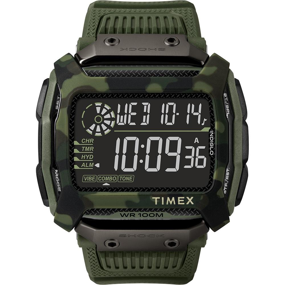 TIMEX 天美時 遠征系列 多功能電子錶-綠/54mm