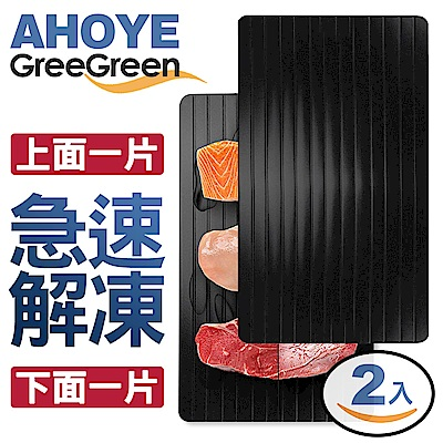 GREEGREEN 鋁合金急速解凍板 23*16cm 2入組